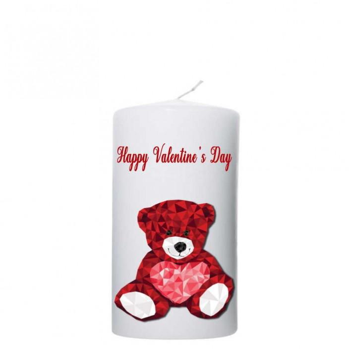 Valentijn kaars 80x150 - Happy Valentine`s Day