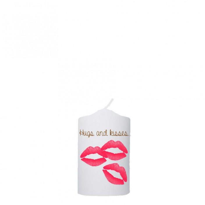 Valentijn kaars 48x100 -  Hugs and kisses