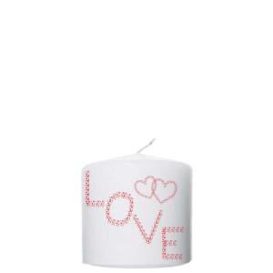 Valentijn kaars 100x100 - Love