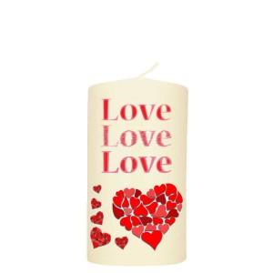 Valentijn kaars 80x150 - Love Love Love