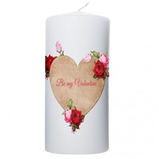 Valentijn kaars 100x200 Be my valentine