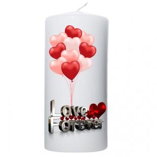 Valentijn kaars 100x200 Love Forever