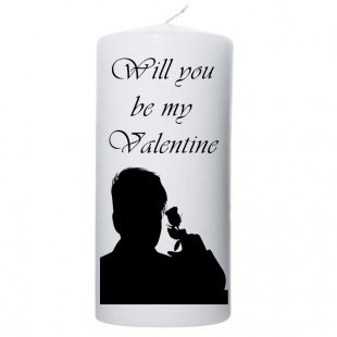 Valentijn kaars 100x200 Will you be my valentine