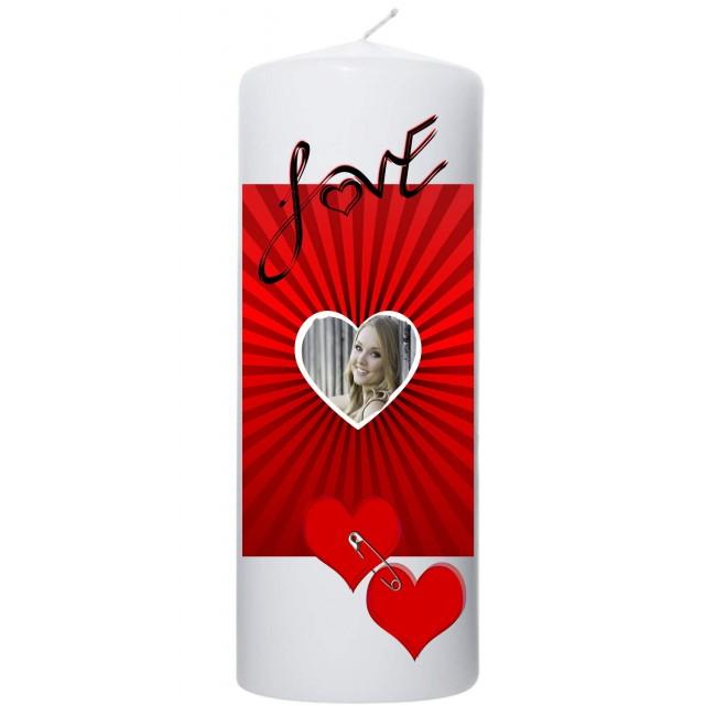 Valentijn kaars 100x200 Hart frame