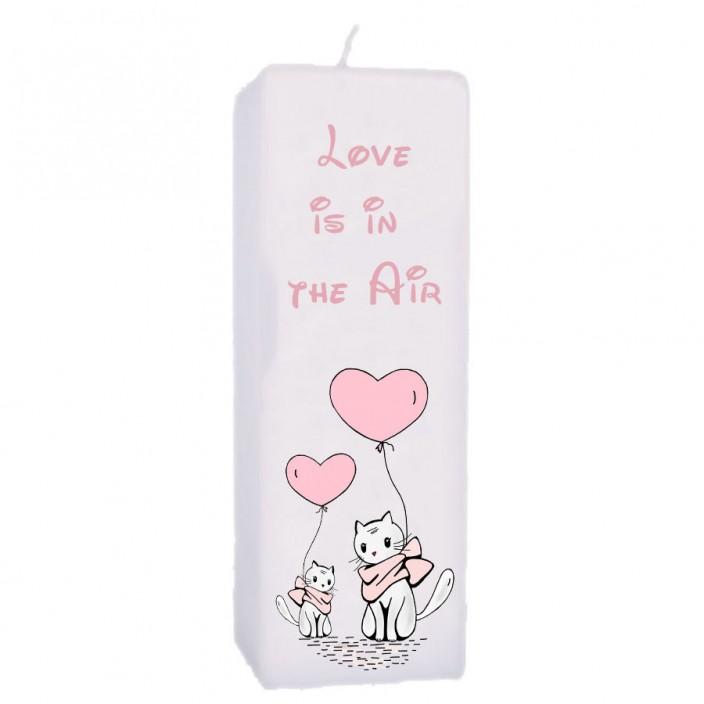Valentijn kaars 70x70x200 - Love is in the air