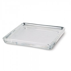 Glazen kaarsenschaal 100x100