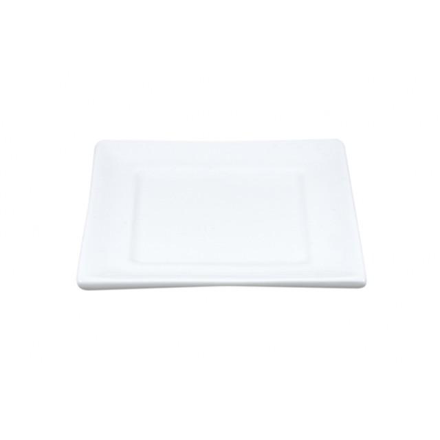 Vierkant kaarsenschaaltje 85x85 wit