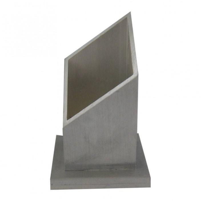 Vierkante kaarsenhouder aluminium