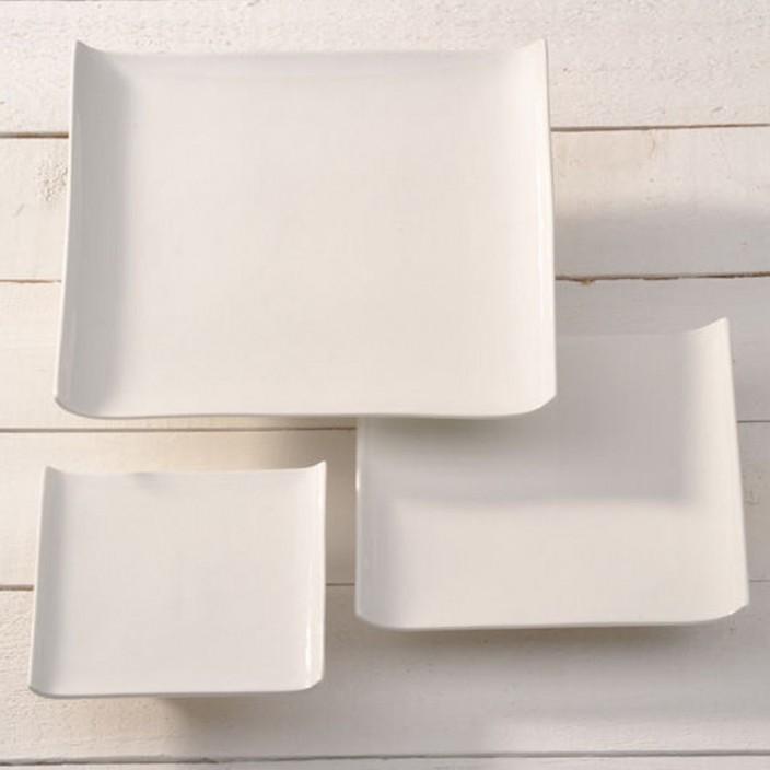 witte vierkante schaal 190x190