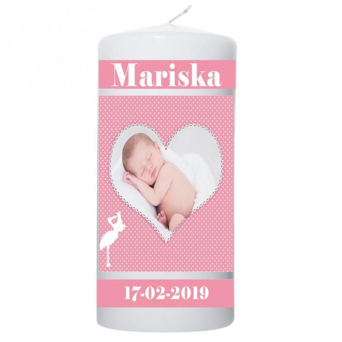Geboortekaars foto in hart