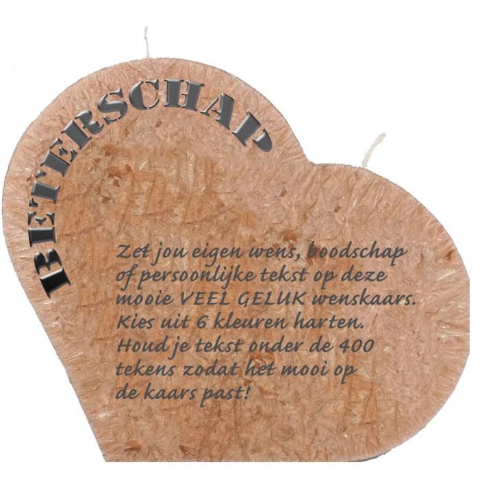 Wenskaars groot hart - beterschap