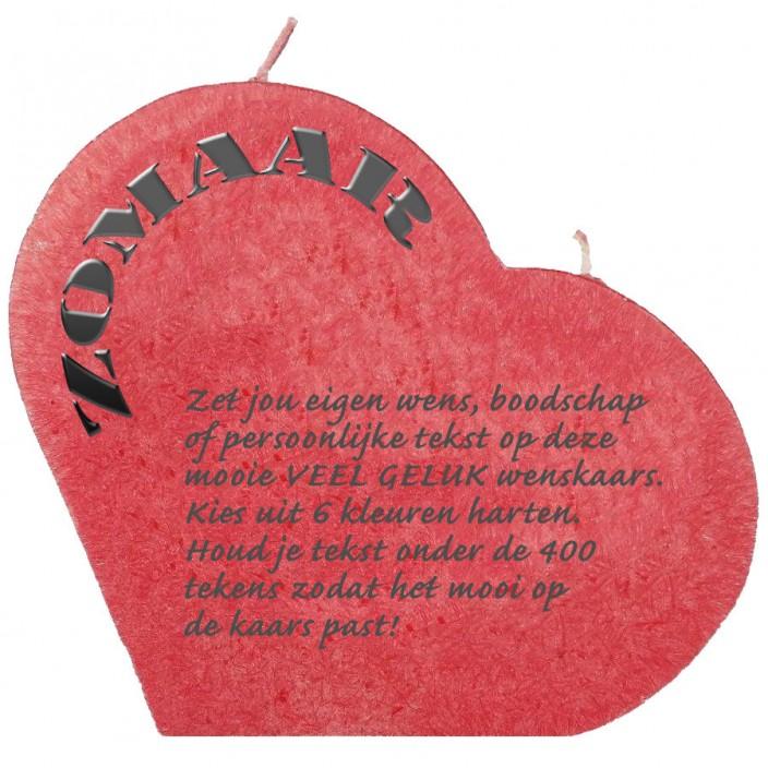 Wenskaars groot hart - zomaar