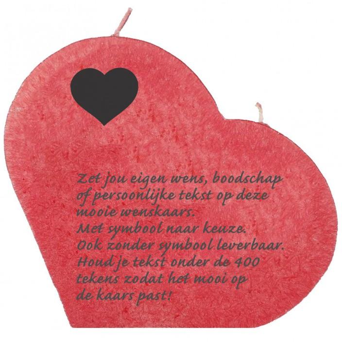 Wenskaars groot hart rood