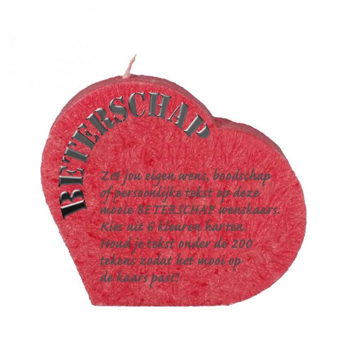 Wenskaars hart - beterschap