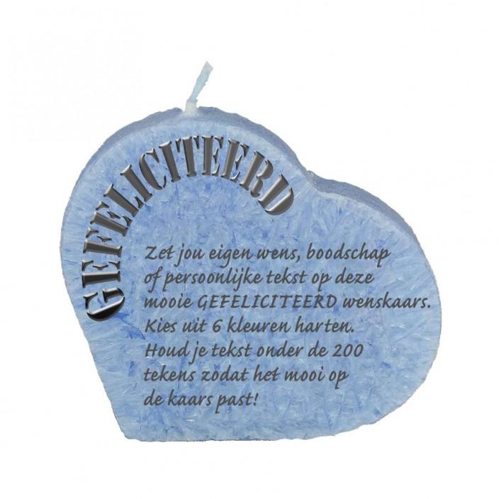 Wenskaars hart - gefeliciteerd