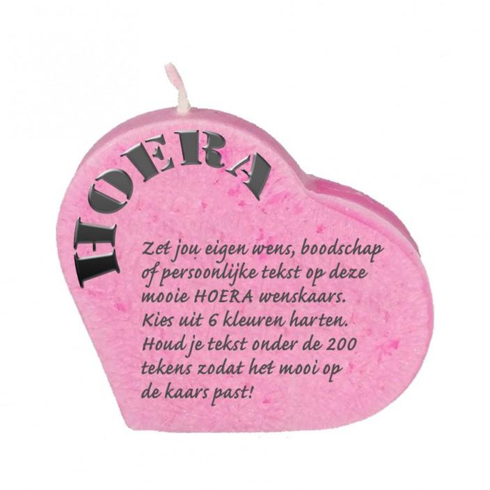 Wenskaars hart - hoera
