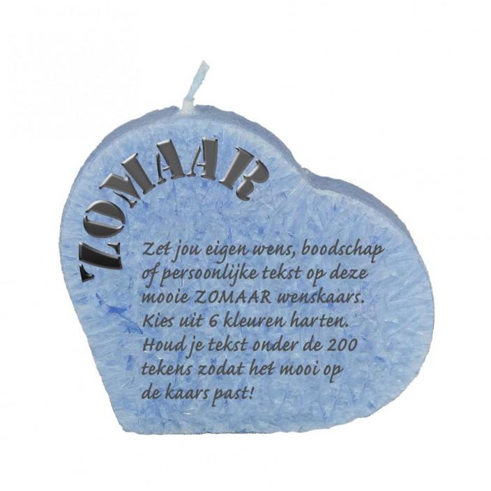 Wenskaars hart - zomaar