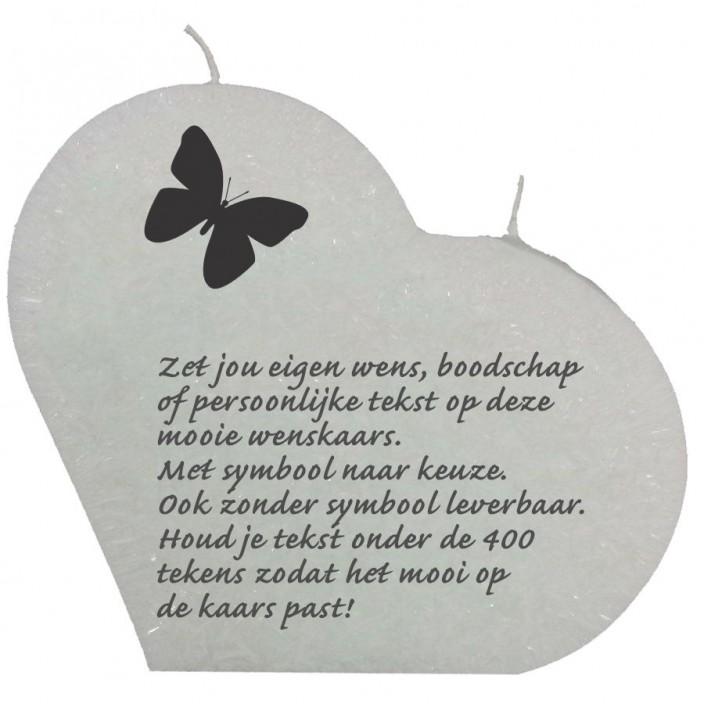 Wenskaars groot hart wit